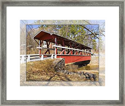 Covered Bridge In Pa. Framed Print