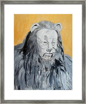 Cowardly Lion Framed Print