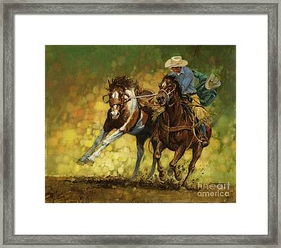 Rodeo Pickup Framed Print by Don  Langeneckert