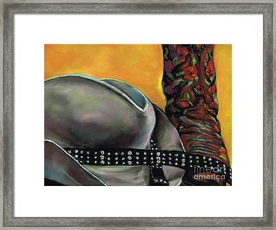 Cowgirl Necessities Framed Print by Frances Marino