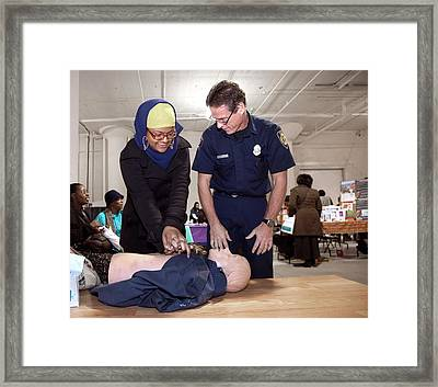Cpr Community Training Framed Print by Jim West