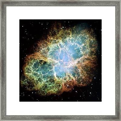 Crab Nebula Framed Print by Nasa