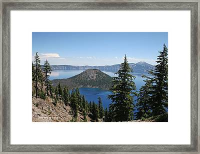 Crater Lake Oregon Framed Print