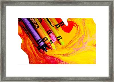 Crayon Soup Framed Print by Diana Angstadt