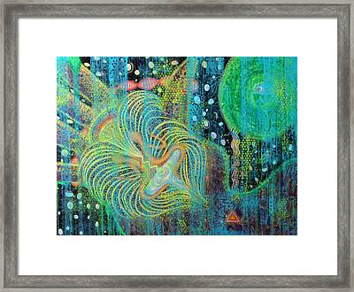 Creation Of Adam And Eve Framed Print by Anne Cameron Cutri