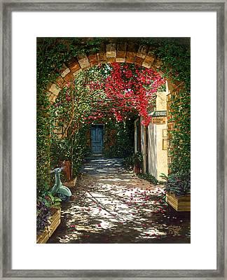 Crimson Canopy Framed Print by Doug Kreuger