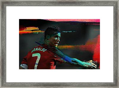 Cristiano Ronaldo Framed Print by Marvin Blaine