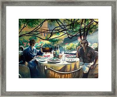 Croasdella And Geraldine Framed Print