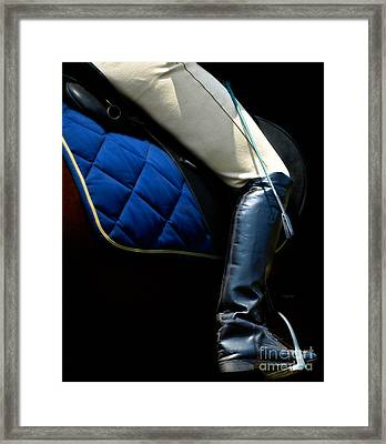 Crop And Boot  Framed Print by Steven Digman