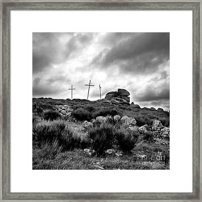 Cross Framed Print by Bernard Jaubert