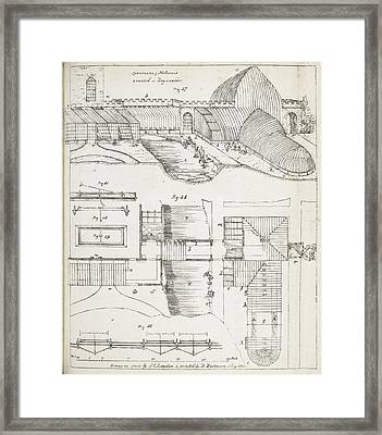 Cross Sections Of Greenhouses Framed Print
