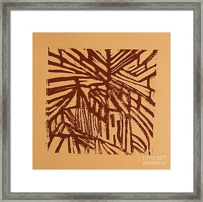 Cross Way Framed Print