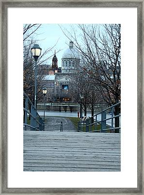 Crossing Over Framed Print by Munir Alawi