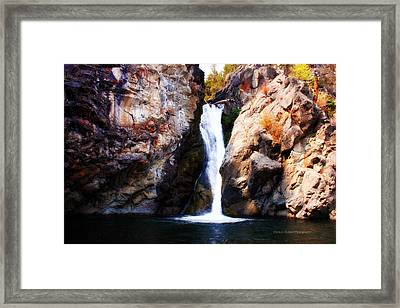 Crow Creek Falls Framed Print