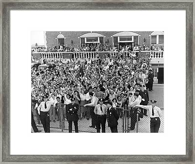 Crowd Welcomes Howard Hughes Framed Print