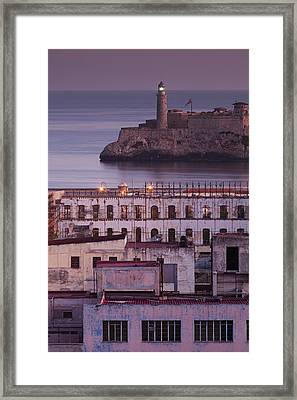 Cuba, Havana, Elevated City View Framed Print
