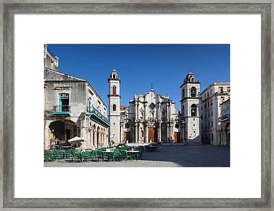 Cuba, Havana, Havana Vieja, Plaza De La Framed Print