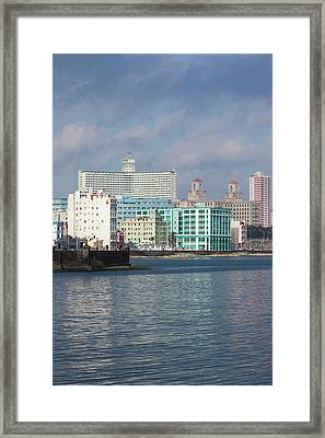 Cuba, Havana, Vedado, Elevated View Framed Print by Walter Bibikow