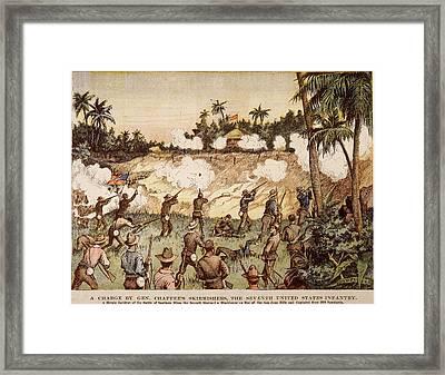 Cuba San Juan Hill, 1898 Framed Print by Granger