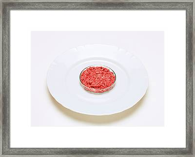 Cultured Meat Product Framed Print by Victor De Schwanberg