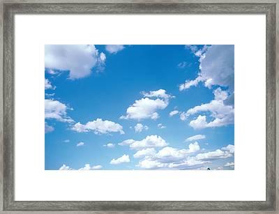 Cumulus Clouds Framed Print