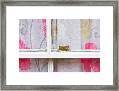 Curtain Framed Print by Tom Gowanlock