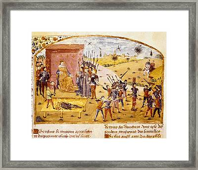 Curtius, Rufus Quintus 1st Century. The Framed Print by Everett