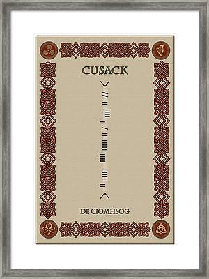 Cusack Written In Ogham Framed Print