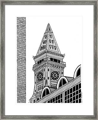 Custom House Tower Framed Print by Conor Plunkett