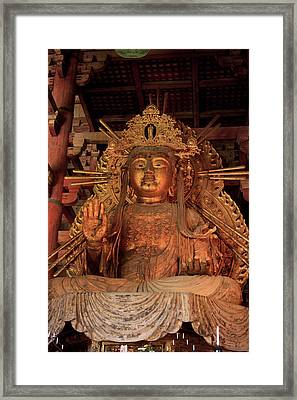 Daimonji Temple In Nara, Japan Is Home Framed Print by Paul Dymond