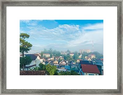 Dalat City View Vietnam Framed Print by Nikita Buida