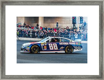 Dale Earnhardt Jr Framed Print by James Marvin Phelps