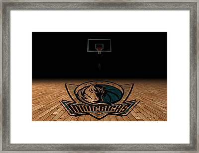 Dallas Mavericks Framed Print by Joe Hamilton