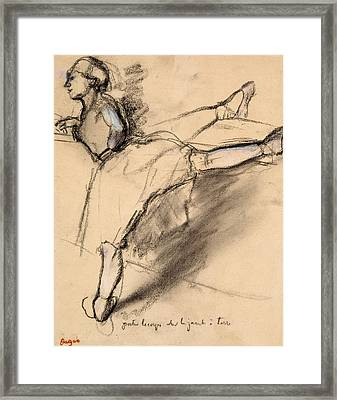 Dancer At The Bar Framed Print