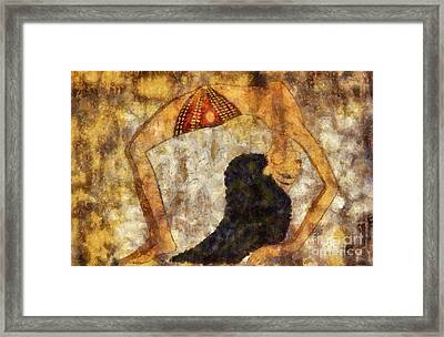 dancer of ancient Egypt Framed Print