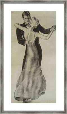 Dancing Couple Framed Print by Maxwell Mandell