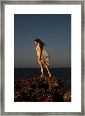 Dancing On The Rocks Framed Print