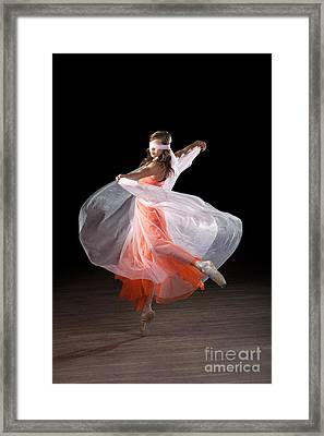 Dancing With Closed Eyes Framed Print
