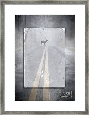 Danger Ahead Framed Print