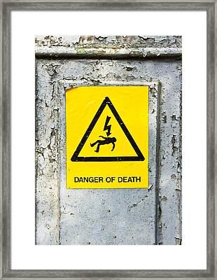 Danger Of Death Framed Print
