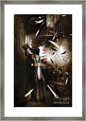 Dark Fashion Girl Making Magic And Mystery Wish Framed Print by Jorgo Photography - Wall Art Gallery