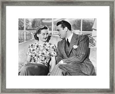 Dark Victory, From Left, Bette Davis Framed Print
