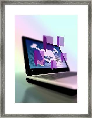 Data Hacking Framed Print