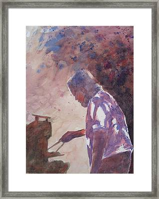 Dave's Barbeque Framed Print by John  Svenson