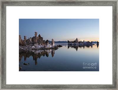 Dawn On Mono Lake Framed Print by Sandra Bronstein