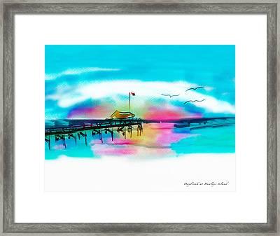 Framed Print featuring the digital art Daybreak At Pawleys Island by Frank Bright