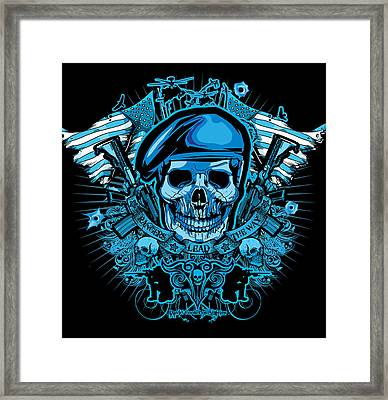 Dcla Los Angeles Skull Army Ranger Artwork Framed Print by David Cook Los Angeles
