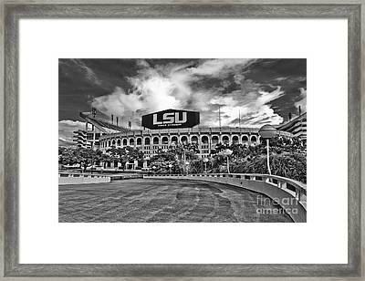 Death Valley - Hdr Bw Framed Print