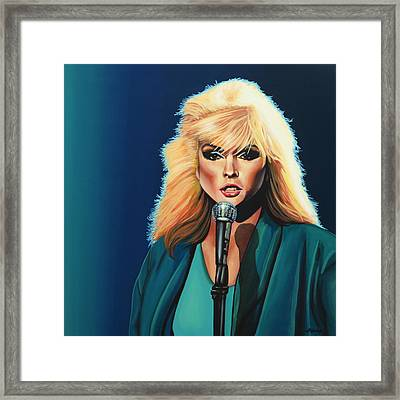 Deborah Harry Or Blondie Painting Framed Print by Paul Meijering