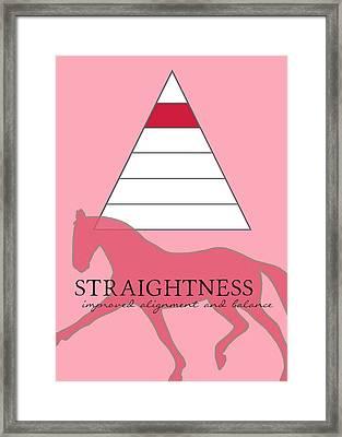 Define Straightness Framed Print by JAMART Photography